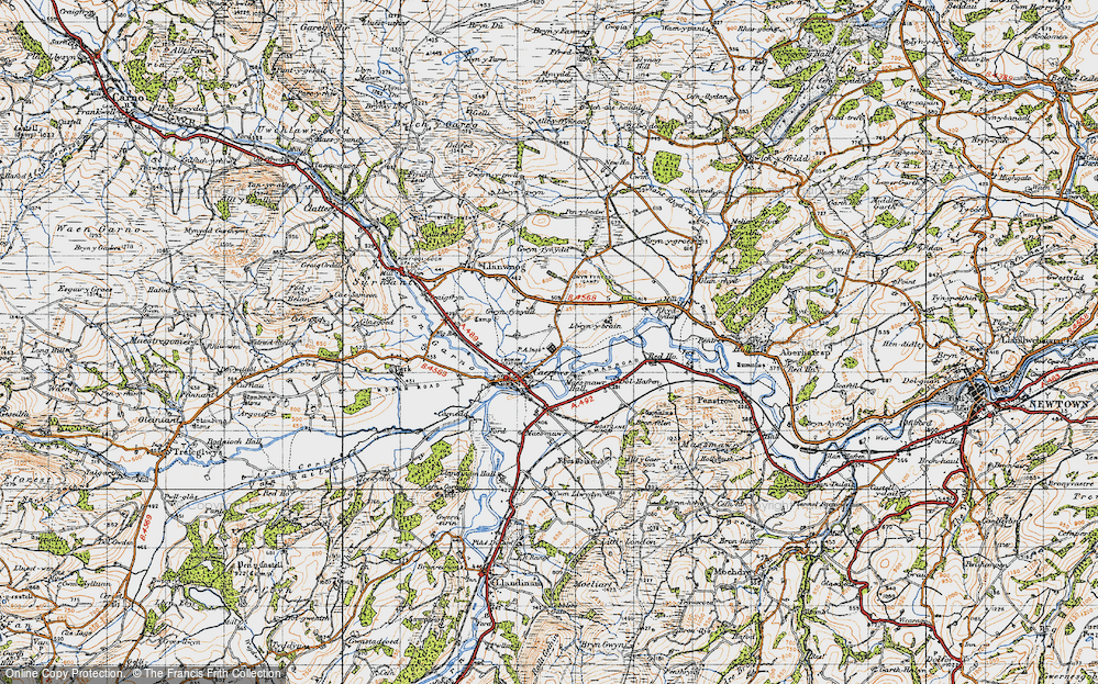 Old Map of Caersws, 1947 in 1947