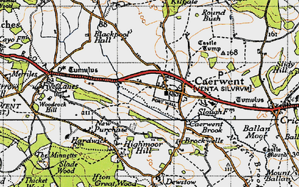 Old map of Caerwent in 1946