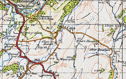 Old map of Banc Bronffin in 1947