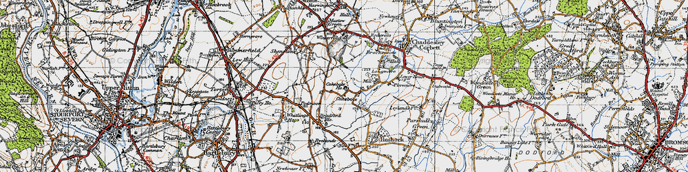 Old map of Winterfold Ho in 1947