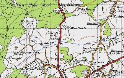 Old map of Wealden Forest Park in 1947