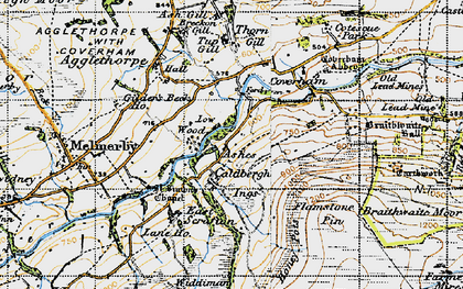 Old map of Ashgill in 1947