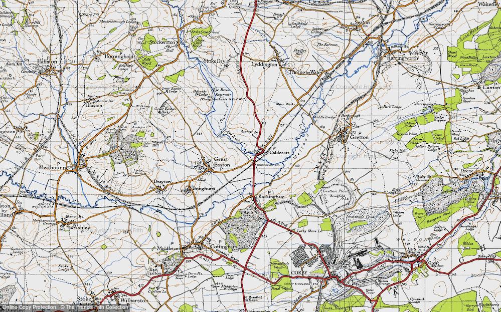 Old Map of Caldecott, 1946 in 1946