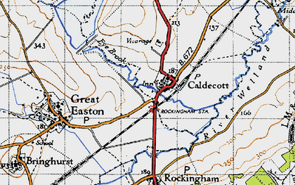 Old map of Caldecott in 1946