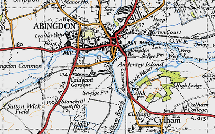 Old map of Abingdon Br in 1947