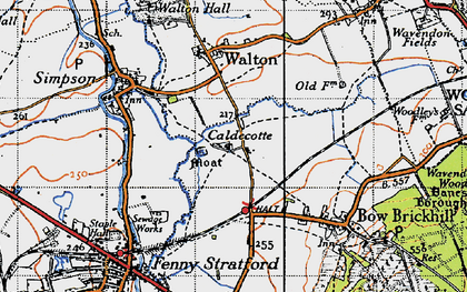 Old map of Caldecotte in 1946