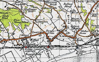 Old map of Caldicot in 1946