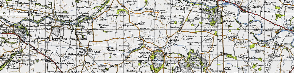 Old map of Caldwell in 1947
