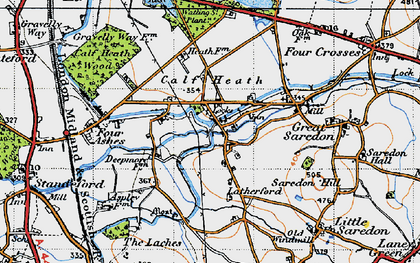 Old map of Latherford in 1946