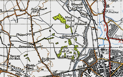 Old map of Callands in 1947