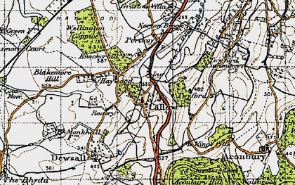 Old map of Aconbury in 1947