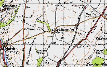 Old map of Ashwell Lodge in 1946