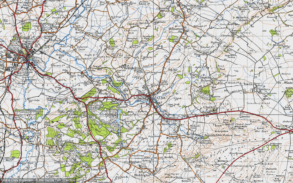 Old Map of Calne, 1940 in 1940