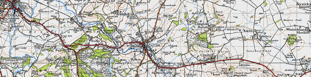 Old map of Abberd Brook in 1940