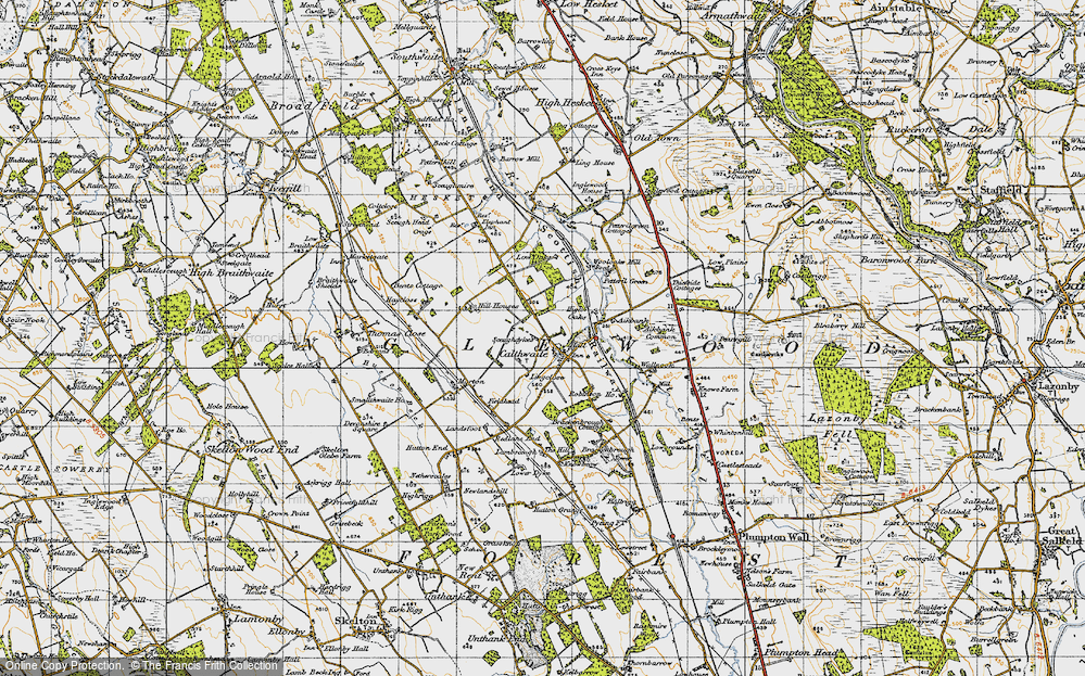 Old Map of Historic Map covering Wool Oaks Mill in 1947