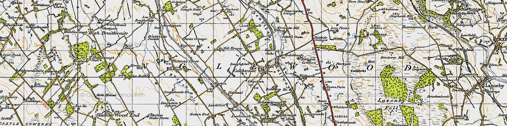 Old map of Wool Oaks Mill in 1947