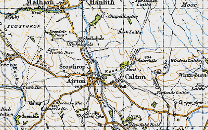 Old map of Calton in 1947