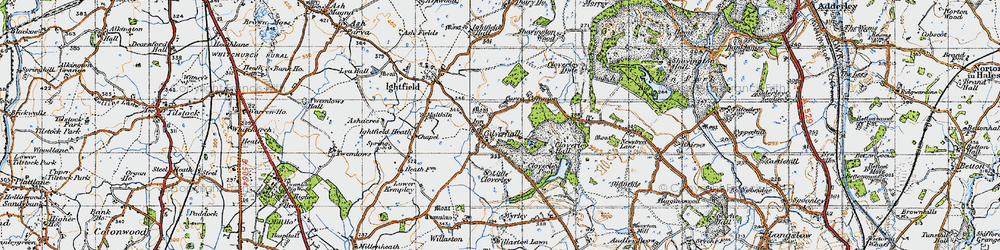 Old map of Calverhall in 1947