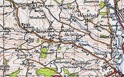 Old map of Leigh Barton in 1946