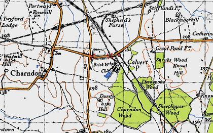 Old map of Calvert in 1946