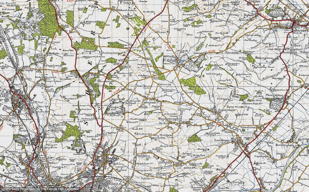 Old Map of Historic Map covering Abbey House in 1946