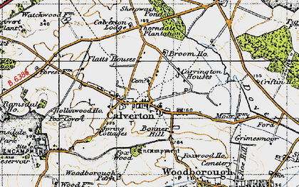 Old map of Abbey House in 1946