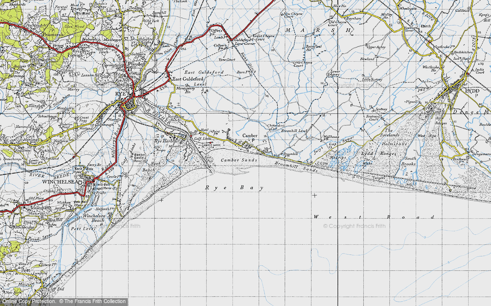 Old Map of Camber, 1940 in 1940