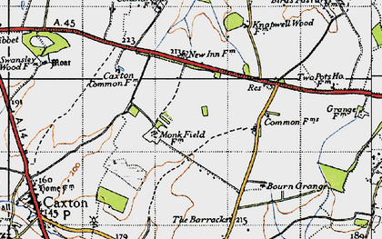 Old map of Cambourne in 1946