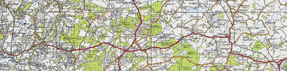 Old map of Whitsunden in 1940