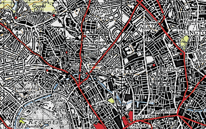 Old map of Camden Town in 1945
