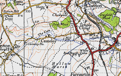 Old map of Cameley in 1946