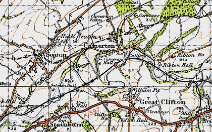 Old map of Camerton in 1947