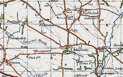 Old map of Camrose in 1946