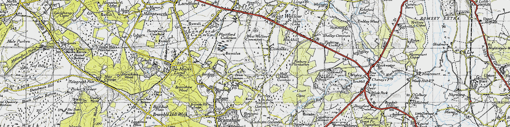 Old map of West Wellow Common in 1940