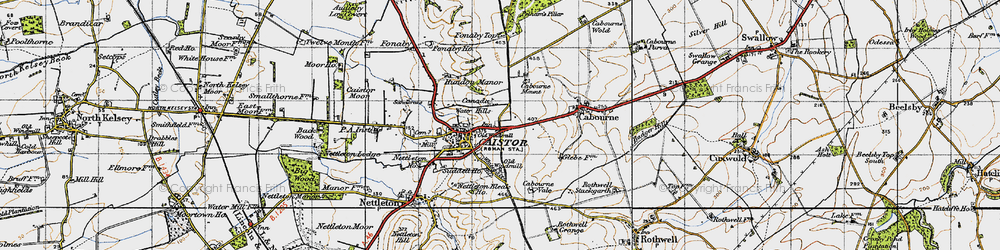 Old map of Whitegate Hill in 1946
