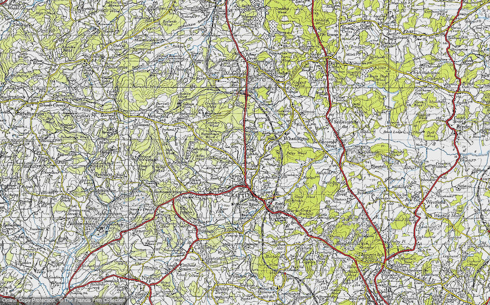 Old Map of Historic Map covering Woodsdale in 1940