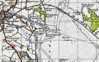 Old map of Barker Scar in 1947