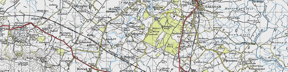 Old map of Abbot's Wood in 1940