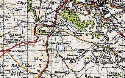 Old map of Leap Edge in 1947
