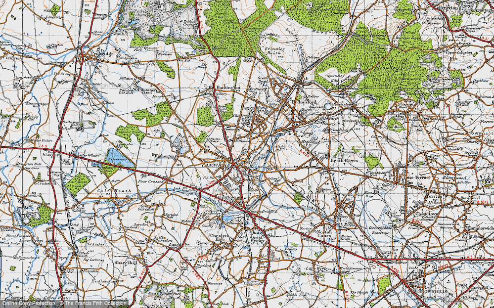Old Map of Cannock, 1946 in 1946