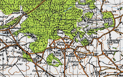 Old map of Cannock Wood in 1946