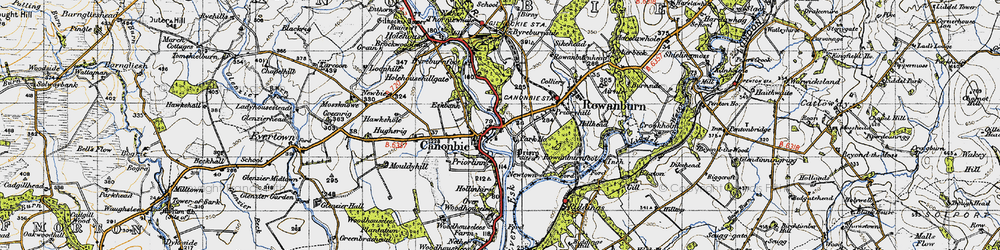 Old map of Canonbie in 1947
