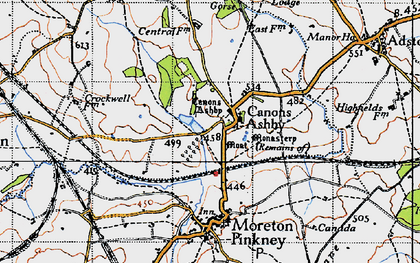 Old map of Ashby Gorse in 1946