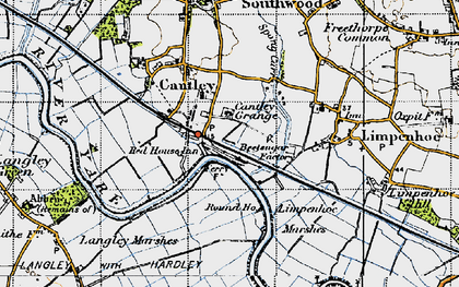 Old map of Cantley in 1946