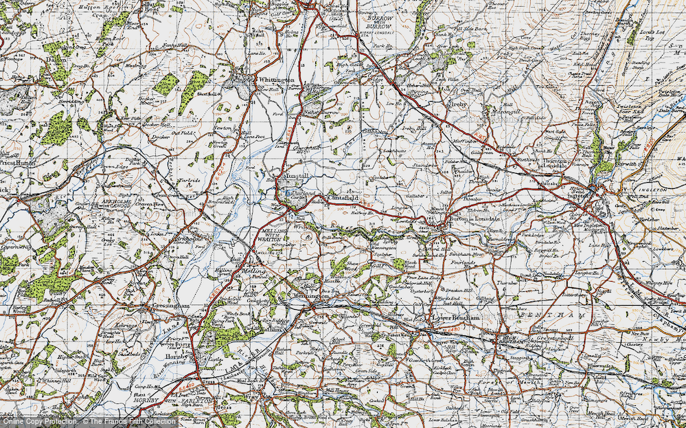 Old Map of Cantsfield, 1947 in 1947