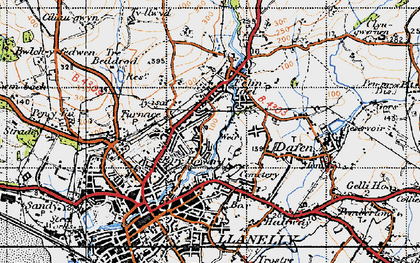 Old map of Capel in 1947