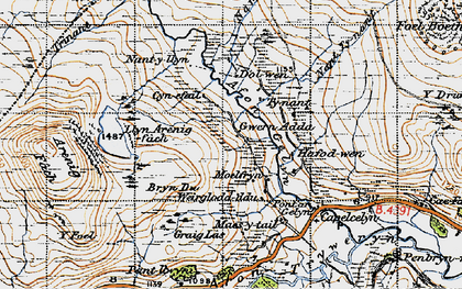 Old map of Y Drum in 1947