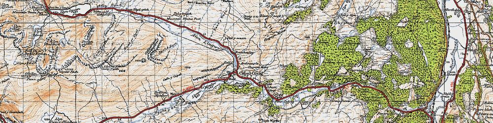 Old map of Afon y Bedol in 1947