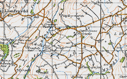 Old map of Tirpab in 1947