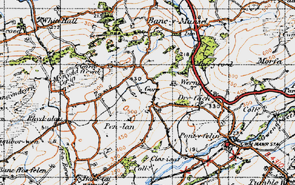 Old map of Capel Seion in 1947